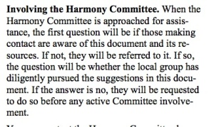 harmony committee circle